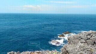 自然,風景,海,空,屋外,ビーチ,雲,水面,岩,崖,ブルー,海洋地形