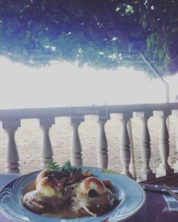 朝食,テラス,ハワイ,オアフ島,エッグベネディクト,ハウツリーラナイ