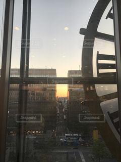 夕日,時計,福岡,博多,アミュプラザ,むつか堂カフェ