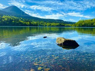 自然,風景,空,屋外,湖,雲,川,水面,山,反射,樹木