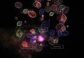 夜空に彩の写真・画像素材[4659799]