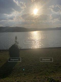 自然,空,屋外,太陽,ビーチ,雲,水面