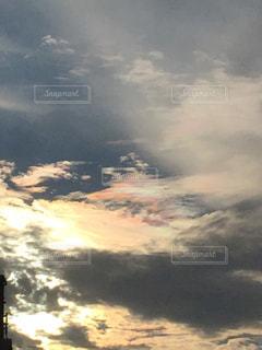 自然,空,雲,虹色,秋空,彩雲,秋雲