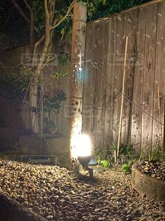 夏,温泉,屋外,竹灯り