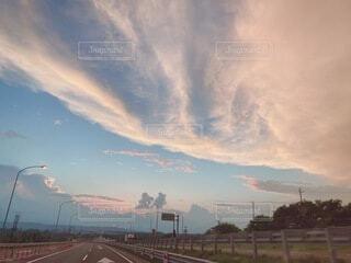 自然,風景,空,屋外,雲,夕暮れ,道路,夕方,高速道路,高速