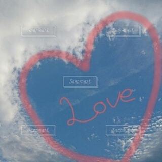 自然,空,LOVE,屋外,雲,飛行機,ハート,ラブ,♡,くもり