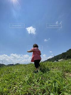 自然,風景,空,屋外,雲,景色,草,人物,人,草木