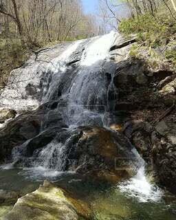 自然,風景,秋,屋外,川,水面,滝,岩,クリーク,ストリーム,カスケード