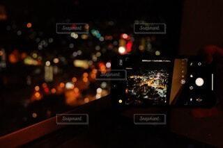 夜,屋内,都会,明るい,ノート パソコン