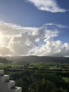 自然,風景,空,屋外,南国,雲,沖縄,山,草,宮古島,くもり