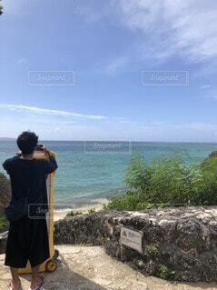 風景,海,空,屋外,南国,ビーチ,雲,水面,沖縄,人物,人,地面,宮古島