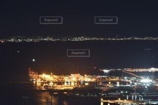 空,屋外,湖,船,水面,都会,高層ビル