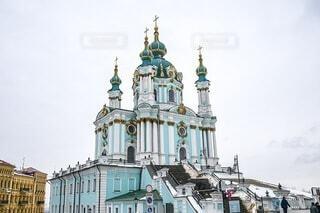 ウクライナ・キエフ 聖アンドリュー教会の写真・画像素材[4679826]