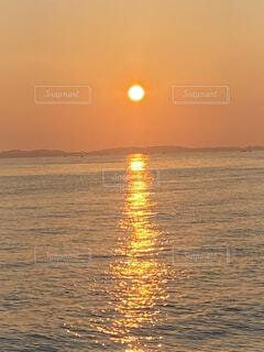 自然,海,空,屋外,湖,太陽,ビーチ,夕暮れ,水面,日の出