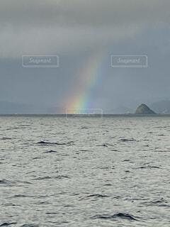 自然,屋外,湖,虹,水面