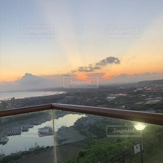 自然,風景,空,夕日,屋外,湖,雲,水面,夕方,山
