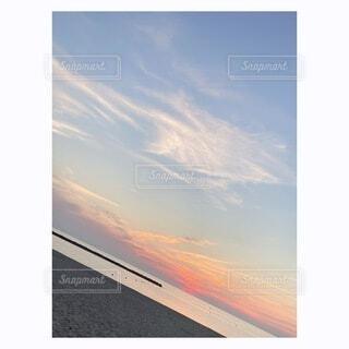 風景,空,太陽,ビーチ,雲,夕暮れ,テキスト