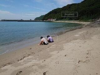 自然,空,屋外,砂,ビーチ,砂浜,海岸,人物,人