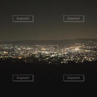 夜,屋外,山