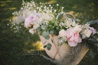 花,花瓶,バラ,薔薇,ブーケ,サマー,草木,芍薬