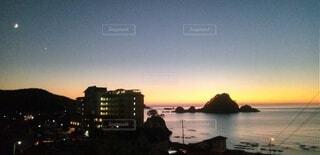 自然,風景,空,屋外,湖,ビーチ,雲,夕暮れ,水面,月,日の出