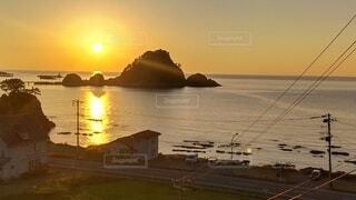 自然,風景,海,空,屋外,湖,ビーチ,夕暮れ,水面,月,日の出