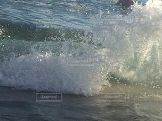 海,スポーツ,屋外,ビーチ,波打ち際,波,水面,波飛沫