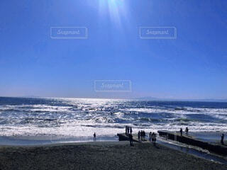 自然,海,空,夏,屋外,ビーチ,海岸,初夏