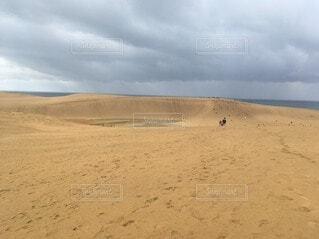 自然,空,屋外,砂,ビーチ,雲,砂丘,くもり,鳥取,鳴き砂