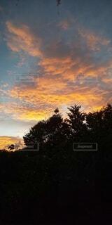 自然,空,夕日,屋外,雲,夕暮れ,アート,オレンジ,芸術,art