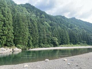 自然,風景,空,屋外,湖,緑,川,水面,山,樹木,旅行