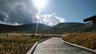 自然,空,屋外,雲,山,草