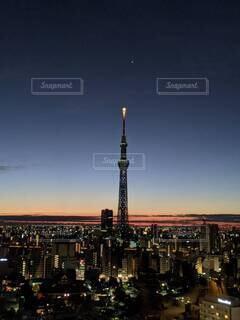 夜明け前の浅草の写真・画像素材[4690629]