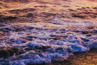 夕日に染るざぶんの写真・画像素材[4688841]