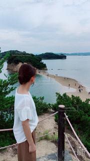 小豆島☆エンジェルロードの写真・画像素材[701305]