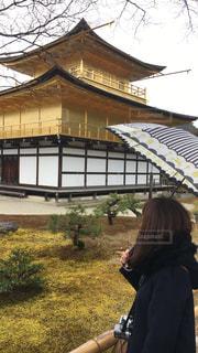 雨の日の金閣寺!の写真・画像素材[812461]