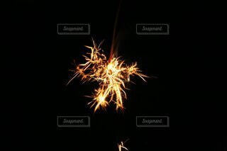 夏の風物詩線香花火の写真・画像素材[4701076]