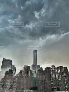 自然,風景,空,建物,屋外,タワー,高層ビル,くもり