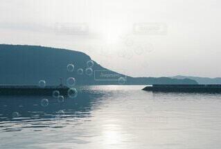海とシャボン玉の写真・画像素材[4780120]