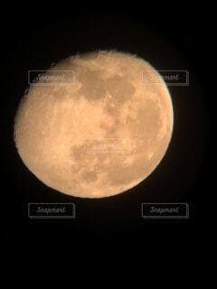 月の出したてのお月さまの写真・画像素材[4834825]
