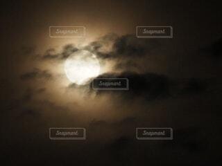 自然,風景,空,夜,月,雲と月,月光環