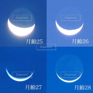 自然,風景,空,きれい,美しい,月,三日月,地球照,夜明け前の空,月の欠け方,月のヒカリ