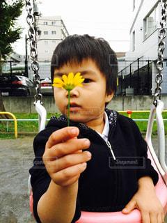 ブランコ,お花,子供,プレゼント