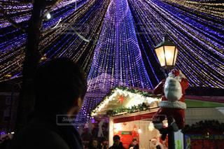冬,夜,イルミネーション,クリスマス,サンタ
