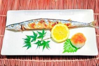 秋に食べる旬の秋刀魚の写真・画像素材[4802269]