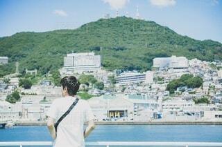 真夏の山と海と空との写真・画像素材[4757108]