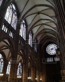 ストラスブール大聖堂の内装の写真・画像素材[4747441]