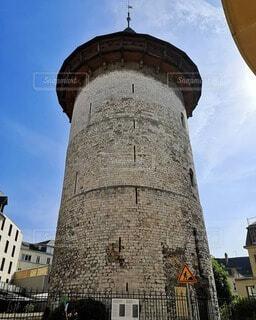 かつて、ジャンヌダルクが幽閉されていた塔の写真・画像素材[4749246]