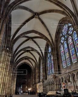 ストラスブール大聖堂の内装の写真・画像素材[4750505]
