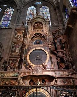 ストラスブール大聖堂の天文時計台の写真・画像素材[4750517]